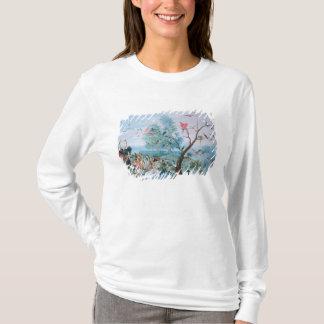 T-shirt Oiseaux tropicaux dans un paysage