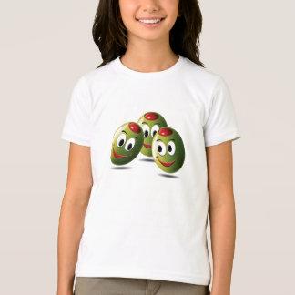 T-shirt Olives de chemise remplies de sourire