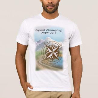 T-shirt olympique de tour de traînée de découverte