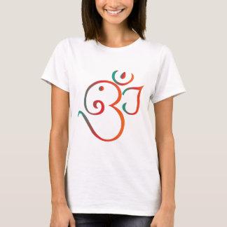 T-shirt OM-ganpati-vert-orange