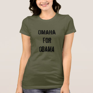 T-shirt Omaha pour Obama