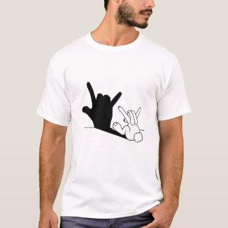 T-shirt Ombre de main d'amour de lapin