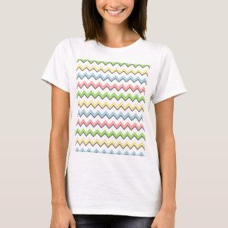 T-shirt Ombre en pastel de Chevron-Baisse par Shirley
