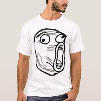 T-shirt omfg d'omg de rofl d'humour de meme de visage de