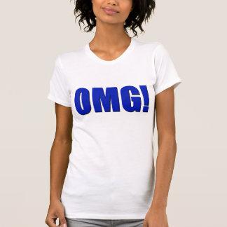 T-shirt OMG ! bleu