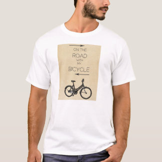 T-shirt On the Road with my bicycle