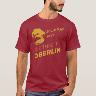 T-shirt Oncle Karl : rouge/obscurité