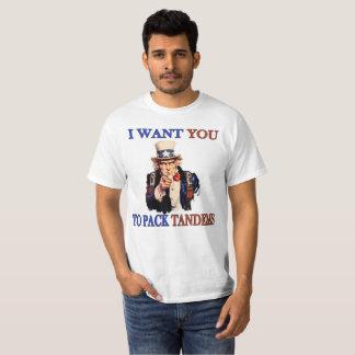 """T-shirt Oncle Sam de parachutisme """"je veux que vous"""