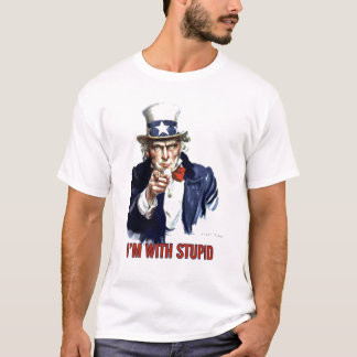 T-shirt Oncle Sam - je suis avec stupide