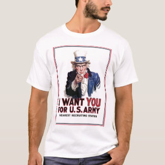 """T-shirt Oncle Sam """"je vous veux """""""