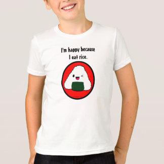 T-shirt Onigiri - je suis heureux parce que je mange du