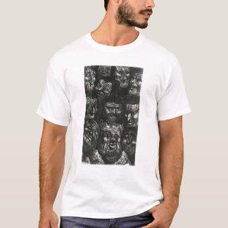 T-shirt Onze visages grotesques