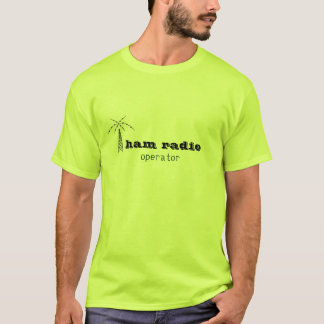 T-shirt opérateur de logo de radio-amateur