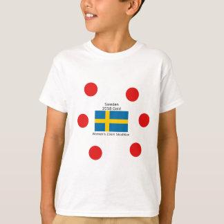 T-shirt Or 2018 de la Suède - 15km Skiathlon des femmes