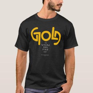T-shirt Or Ambigram de découverte