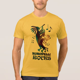 T-shirt Or américain d'habillement de danse de Kokopelli