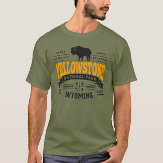 T-shirt Or de cru de Yellowstone