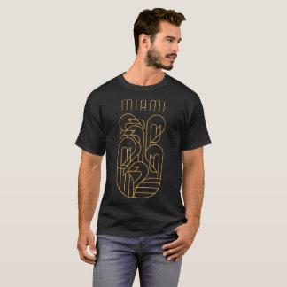 T-shirt Or de flamant de Miami