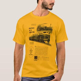 T-shirt Or de motif d'électro du diesel 1948 de chemin de