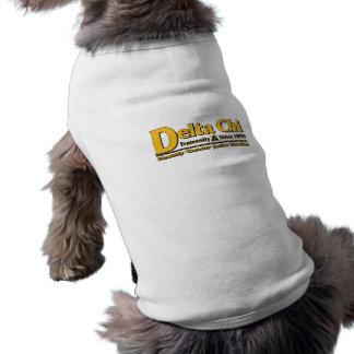 T-shirt Or de nom et de logo de Chi de delta
