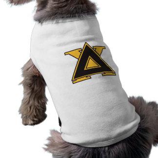 T-shirt Or d'insigne de Chi de delta