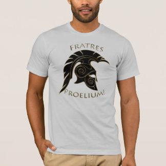 T-shirt Or grec Trojan de noir de guerrier de bataille