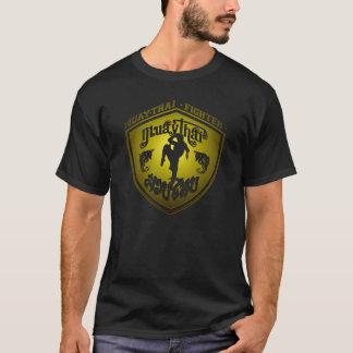T-shirt Or thaïlandais de combattant de Muay