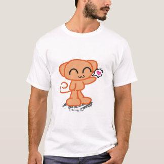T-shirt orange d'amour de KAT