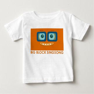 T-shirt orange de bébé de bande d'amusement de