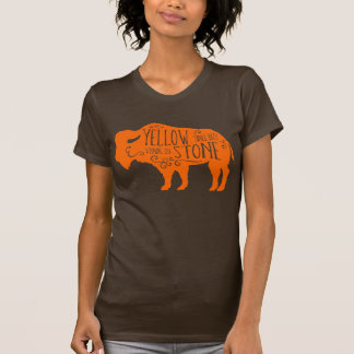 T-shirt Orange de Buffalo de Yellowstone