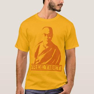T-shirt orange de Dalaï lama