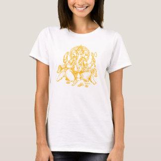 T-shirt Orange de détail de Ganesh