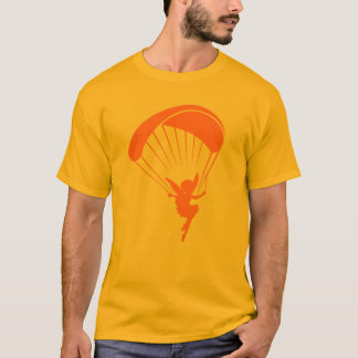 T-shirt orange de lutin de parapentisme