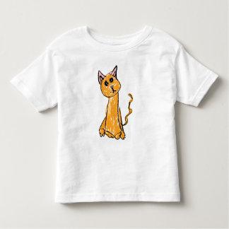 T-shirt orange mignon de chat