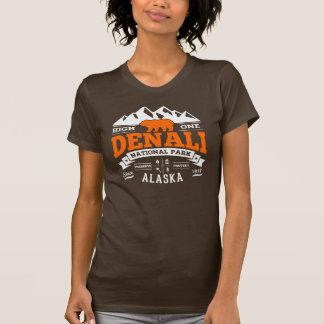 T-shirt Orange vintage de Denali