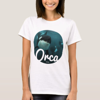 T-shirt Orcas underwater circle