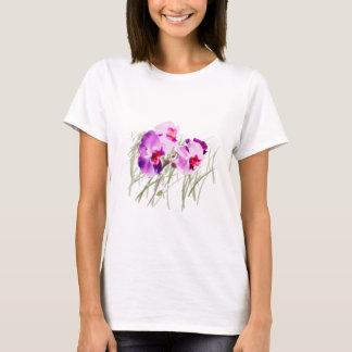 T-shirt Orchidées sur la chemise de rivage