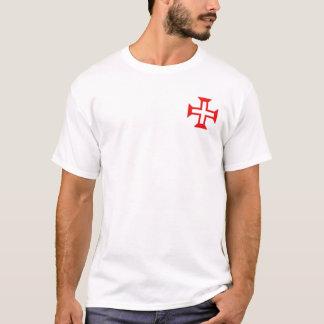 T-shirt Ordre de croix du Christ sur la chemise de poche