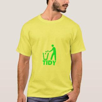 T-shirt ordure-récipient, RANGÉ