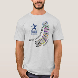 T-shirt Ordures de l'honneur de l'olive - habillement