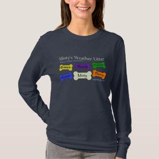 T-shirt Ordures de temps - douille des femmes de marine la