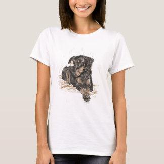 T-shirt Oreilles naturelles de chien de dobermann