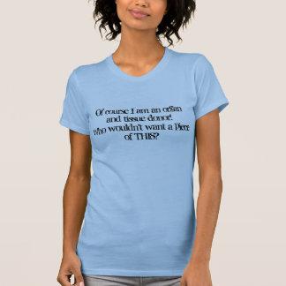 T-shirt Organe et donateur de tissu