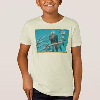 T-shirt organique chauve d'Eagle pour des enfants