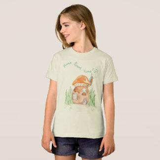"""T-shirt organique"""" de filles à la maison douces """"à"""