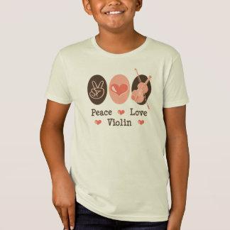 T-shirt organique de violon d'amour de paix