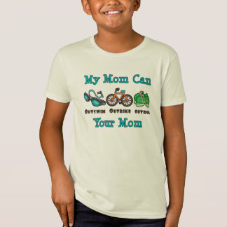 T-shirt organique d'enfant de triathlon de maman