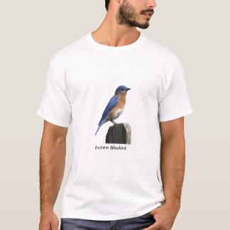 T-shirt oriental d'oiseau bleu