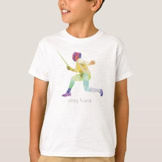 T-shirt Origami de clôture dur de jeu