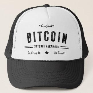 T-shirt original de logo de Bitcoin Satoshi crypto Casquette